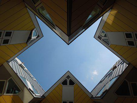 Architecture, Cube House, Rotterdam, Building, Cube
