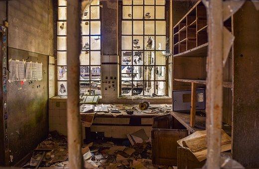 Lost Places, Hall, Office, Pforphoto, Factory
