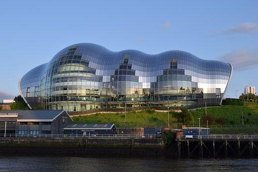 Sage, Gateshead, Newcastle, Architecture, Tyne, Uk