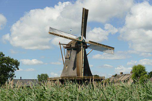 Mill, Wind Mill, Architecture, Times, History, Holland