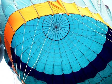Hot Air Balloon, Blue, Balloon, Ballooning, Air, Flight