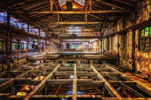 Hall, Factory, Industrial Hall, Ruin, Abandoned