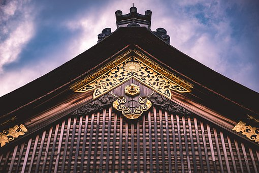 Detail, Asia, Palace, Isolated, Close Up, Gold, Kyoto
