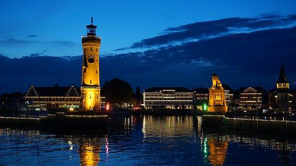 Lindau, Port, Lake Constance, Lighthouse