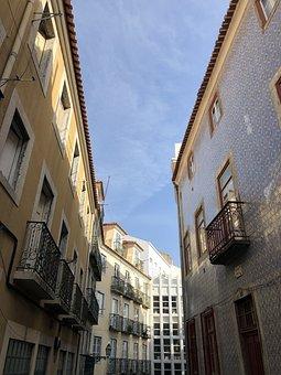 Lisba, Portugal, From Cais Do Sodré, Portuguese Tiles