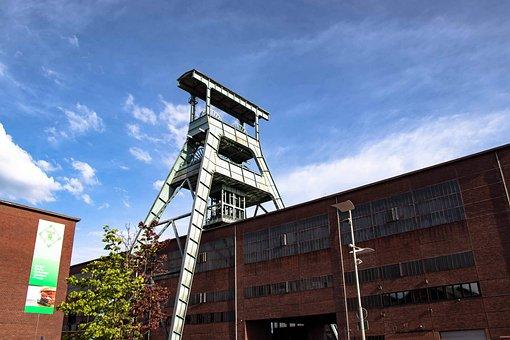 Bill, Headframe, Ruhr Area, Mining, Industry, Mine