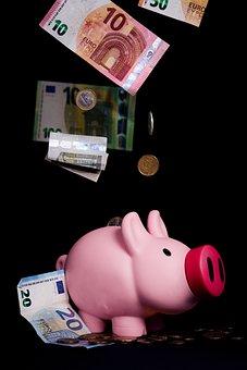 Piggy Bank, Save, Invest, Money, Finance, Euro
