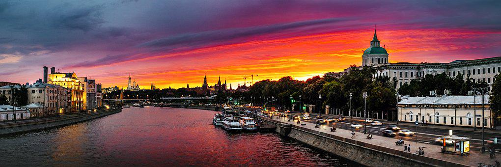 Moscow, The Moscow River, Russia, Bridge, City