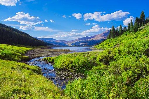 Mountain Valley, Lake, Colorado, Rockies, Mountains