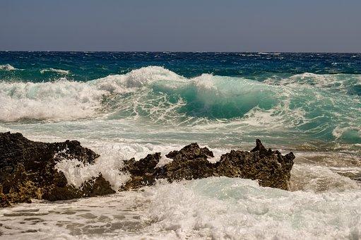 Rocky Coast, Waves, Smashing, Nature, Sea, Splash