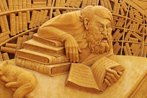 Sand Sculpture, Sand, Art, Oostende, Books, Statue