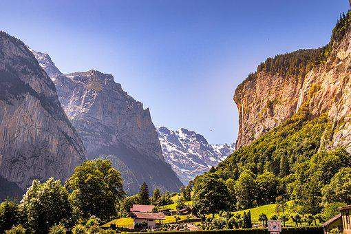 Switzerland, View, Mountains, Alpine, Panorama