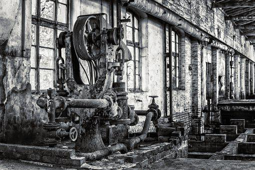 Machine, Plant, Technology, Manufacturing, Drive, Old