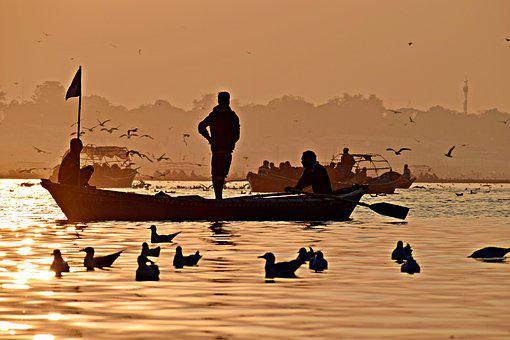 Pragraj, Ganges, River, Sacred, Culture, India