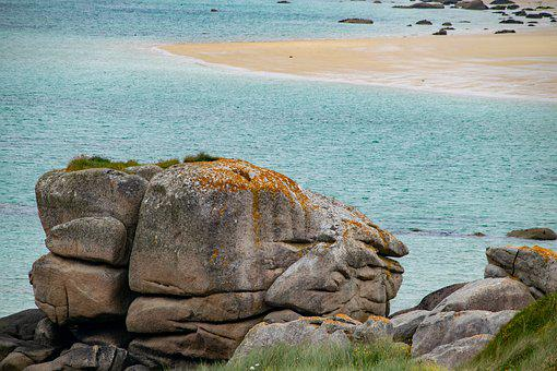 Rock, Sea, Sand, Coast