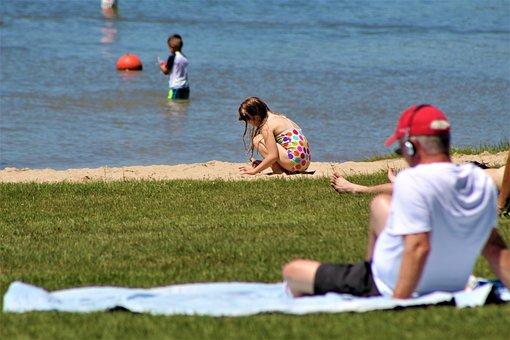 Sand, Beach, Kids, Summer, Water, Nature