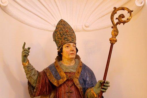 Monastery Irsee, Sculpture, Abbot, Bavaria, Figure
