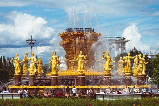 Vdnh, Fountain, Friendship, Enea, Soviet, Russia