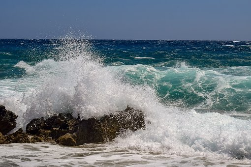 Rocky Coast, Waves, Smashing, Nature, Sea, Splash, Foam