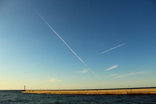 Sea, Sky, Water, The Plane, Landscape