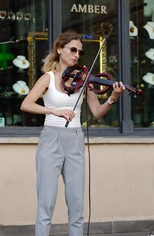 Woman, Person, Young, Violin, Violinist, Perform, Music
