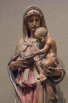 Mary, Virgin, Madonna, Sculpture, Jesus, Baby, Christ