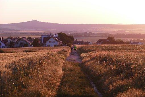 Walk, Human, Personal, Go Walkies, Sunset