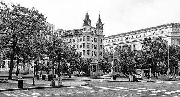 Washington, Dc, City, Urban, Street, Landmark
