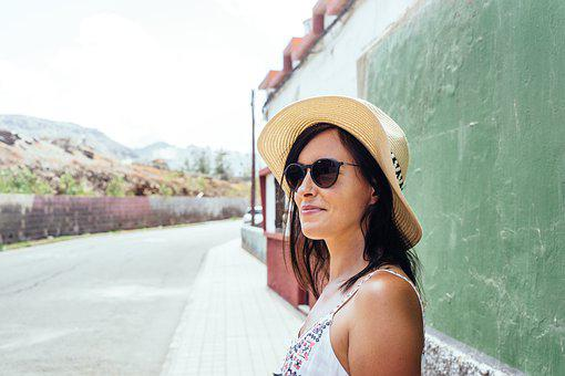 Happy, Woman, Female, Holidays, Vacation, Spain