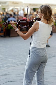 Woman, The Singer, Music, Violin, Young, Person, Female