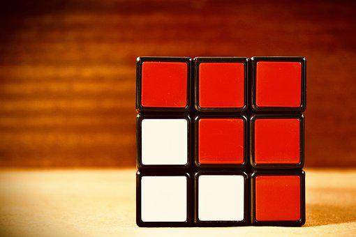 Puzzle, Cube, Game, Toy, 3d, Colorful, Strategy, Red