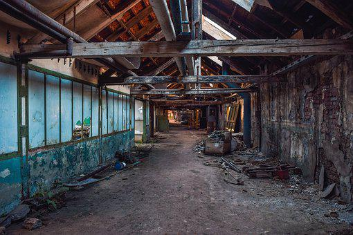 Lost Places, Factory, Pforphoto, Hall, Abandoned