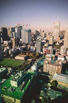 Skyline, Roofs, Big City, City, Architecture, Building