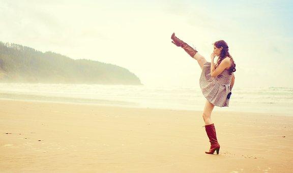 Womens Day, Womensday, Girl, Woman, Beach, Heels, Boots