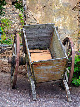 Cart, Wood, Old, Dare, Wooden Cart, Historically