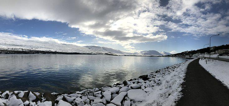 Iceland, Cold, Nature, Snow, Ice, Winter, Clouds
