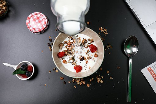 Berry Breakfast, Cereal, Cream, Delicious, Diet, Food