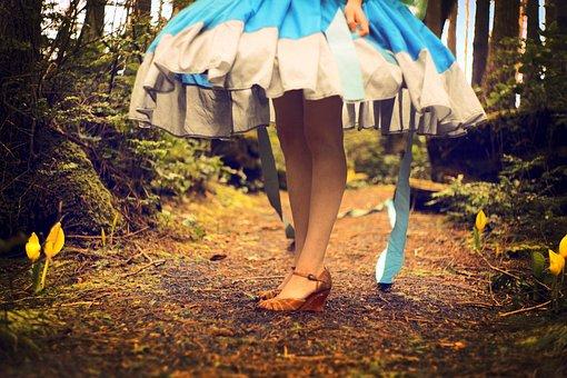 Wonderland, Girl, Dress, Shoes, Fantasy, Fairytale