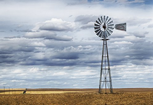 Windmill, Water Pump, Wind Power, Farm, Rural