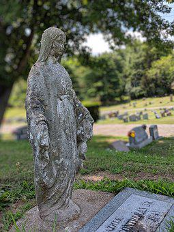 Mary, Saint, Statue, Mother Of God, Grave, Empty Grave