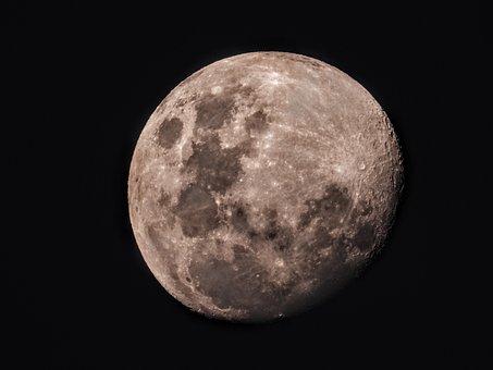 Moon, Half Moon, Space, Crescent, Moonlight, Luna