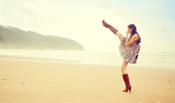Womens Day, Womensday, Girl, Woman, Beach, Heels, Boots