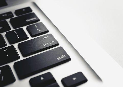 Desk, Laptop, Computer, Macbook, Keyboard, Macbook Pro