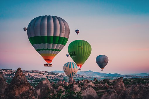 Turkey, Hot Air Balloon, Landscape, Outdoor