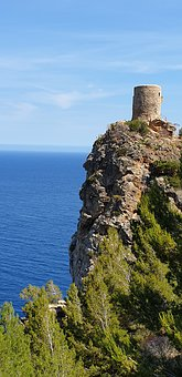 Castle, Mallorca, Architecture, Tourism, Spain