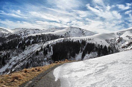 Mountain, Pyrénées, Holiday, Winter, Landscape, Nature