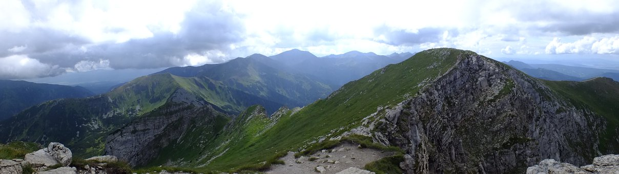 Mountains, Nature, Tatry, Air, Clouds, Tops, Holidays