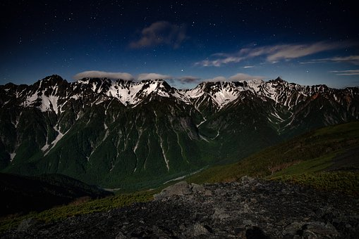 Night View, Mountain, 穂高岳