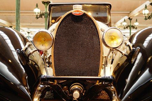Bugatti, Museum, Oldtimer, Vehicle, Reflector, Auto