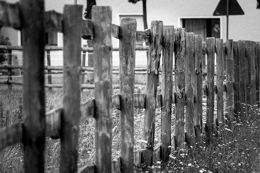 Fence, Pasture Fence, Wood Fence, Limit, Border